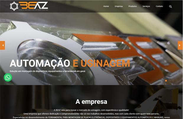 criação de site americana logotipo beaz